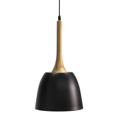 Wooden Dome Pendant - Black - Image 2