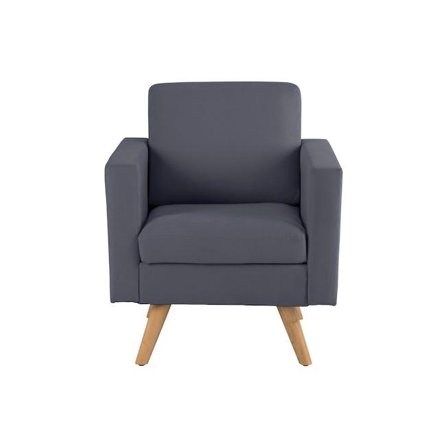 Helen 2 Seater Sofa with Helen Armchair - Hailstorm - 6