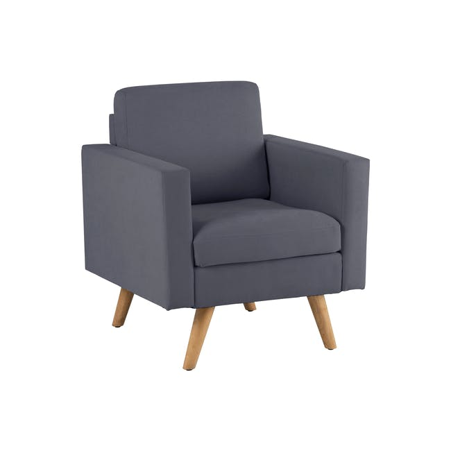 Helen 2 Seater Sofa with Helen Armchair - Hailstorm - 7