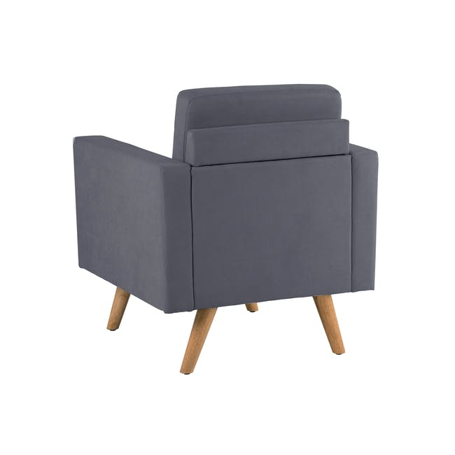 Helen 2 Seater Sofa with Helen Armchair - Hailstorm - 8