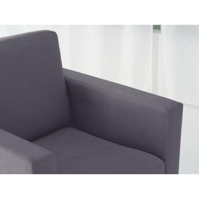 Helen 2 Seater Sofa with Helen Armchair - Hailstorm - 9