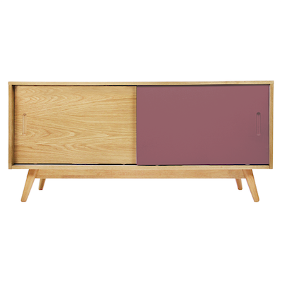 (As-is) Emelie TV Console - Dusty Red - A