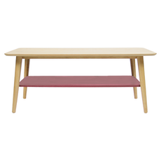 Copenhagen Coffee Table - Dusty Red