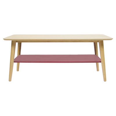 Blythe Coffee Table - Dusty Red - Image 1