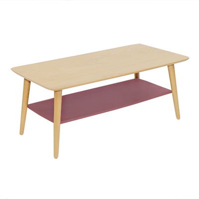 Blythe Coffee Table - Dusty Red - Image 2