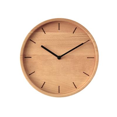 Wooden Minimalist Lines Wall Clock