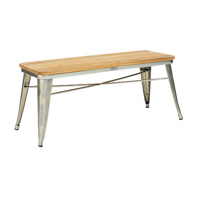 Tolix Industrial Metal Bench  - Industrial Silver