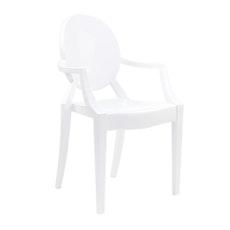 Victoria Ghost Arm Chair - White