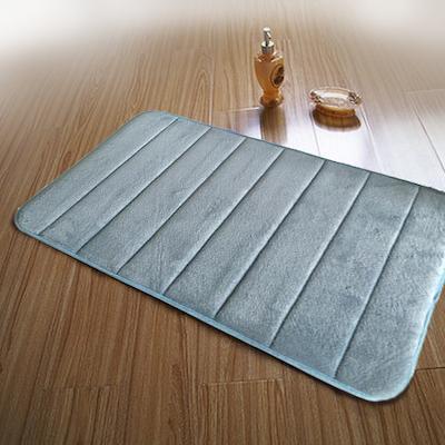 Memory Foam Bath Mat - Blue - Image 2