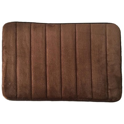 Memory Foam Bath Mat - Brown - Image 1