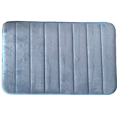 Memory Foam Bath Mat - Blue