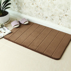 Memory Foam Bath Mat - Brown