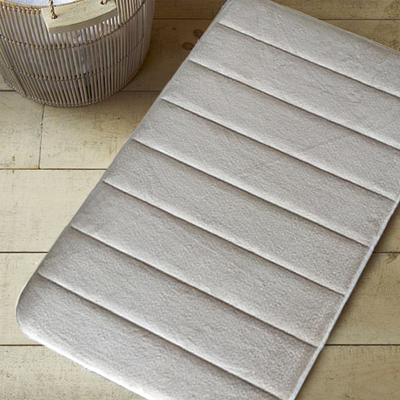 Memory Foam Bath Mat - Cream - Image 2