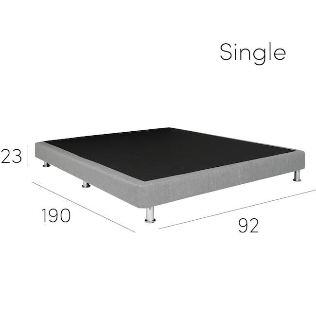 ESSENTIALS Single Divan Bed - White (Faux Leather) - 8