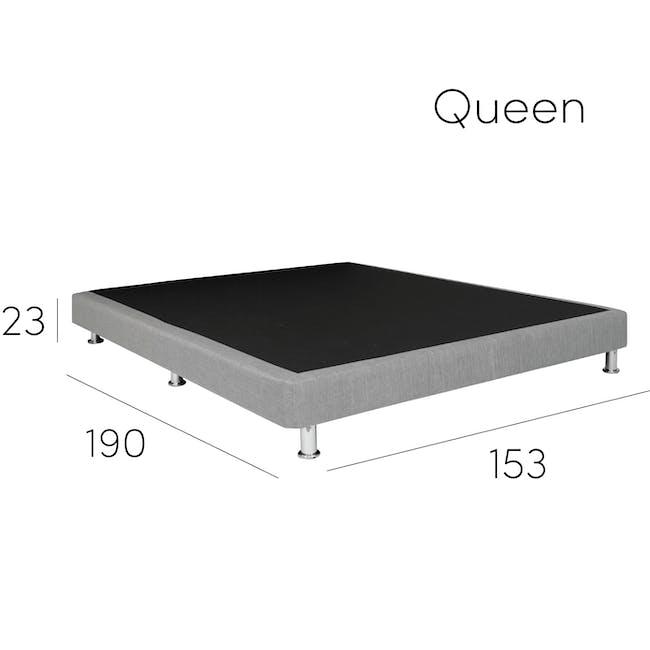 ESSENTIALS Single Divan Bed - White (Faux Leather) - 9