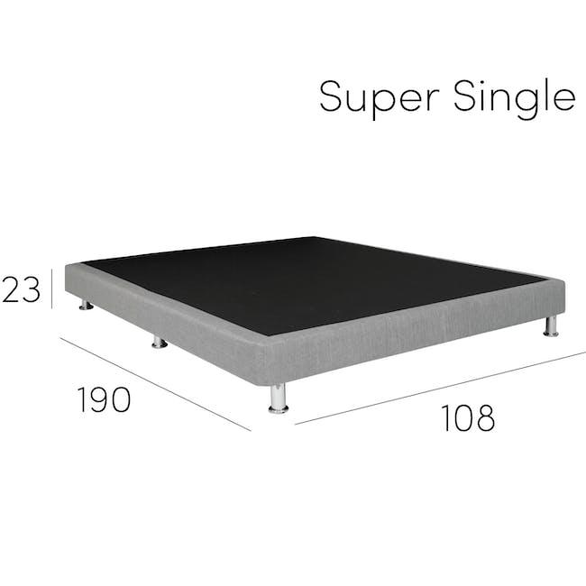 ESSENTIALS Single Divan Bed - White (Faux Leather) - 10