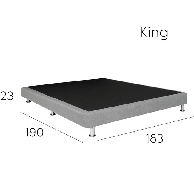 ESSENTIALS Single Divan Bed - White (Faux Leather) - 7