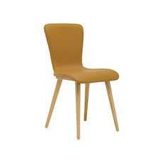 (As-Is) Valley Vinyl Seat Dining Chair - Natural, Caramel - 1