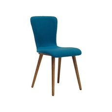 Valley Fabric Seat Dining Chair - Cocoa, Teal (Set of 2)