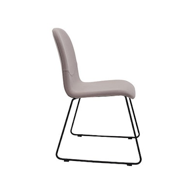 Ava Dining Chair - Matt Black, Barley