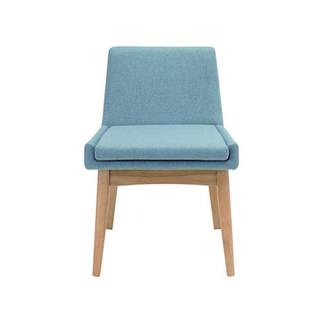 Fabian Dining Chair - Natural, Aquamarine - 2