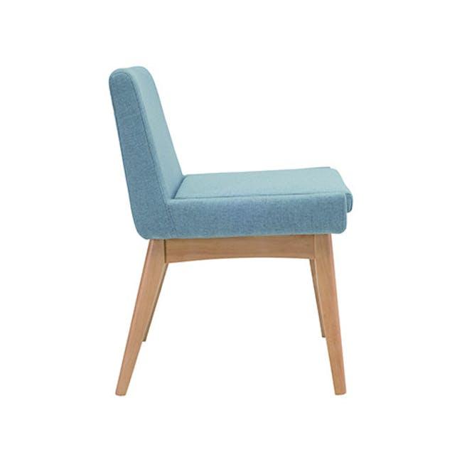 Fabian Dining Chair - Natural, Aquamarine - 1