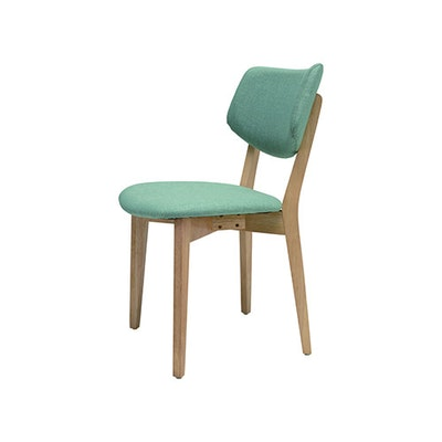 Gabby Chair - Natural, Sea Green