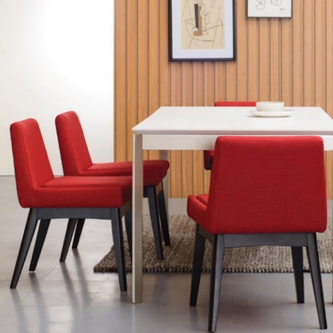 Fabian Dining Chair - Cocoa, Crimson - 2