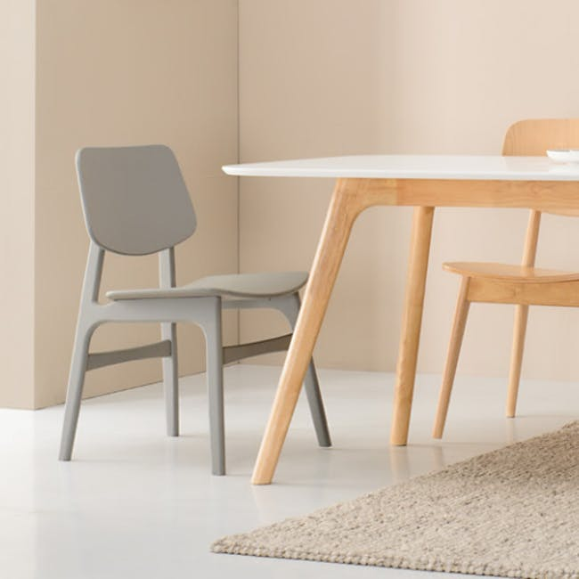 Margo Fabric Seat Dining Chair - Black, Pistachio - 4