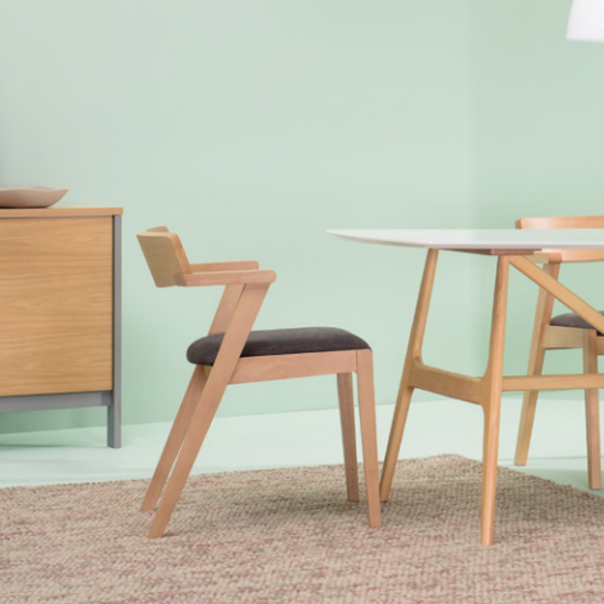 HipVan Bundles - 4 Imogen Dining Chairs in Cocoa, Pebble