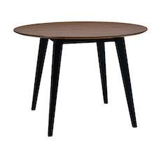 San Francisco 4 Seater Round Dining Table - Black, Cocoa