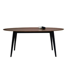 San Francisco 6 Seater Oval Dining Table - Black, Cocoa