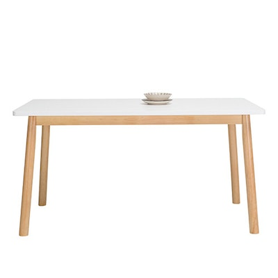 Kendall 6 Seater Dining Table - Natural, White - Image 2