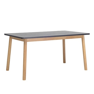 Kendall 8 Seater Dining Table - Natural, Graphite Grey - Image 1