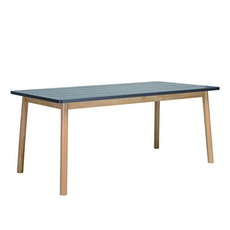 Santorini 6 Seater Dining Table - Natural, Graphite Grey