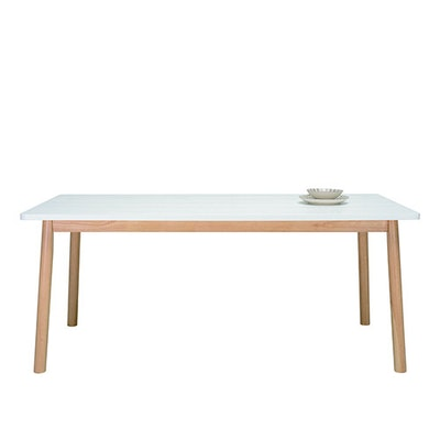 Kendall 8 Seater Dining Table - Natural, White Lacquered - Image 2