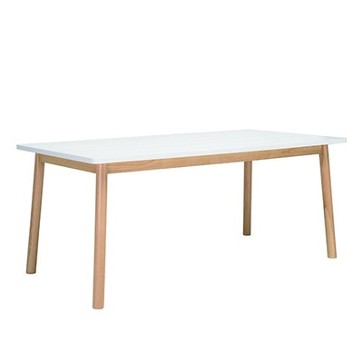 Kendall 8 Seater Dining Table - Natural, White Lacquered