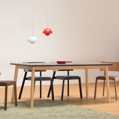 Kendall Dining Table 1.8m - Natural, Graphite Grey - Image 2