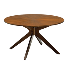 Conan 6 Seater Round Dining Table - Cocoa
