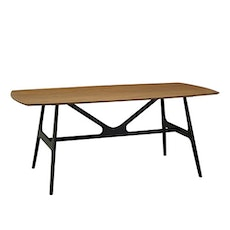 Fila 8 Seater Dining Table - Black, Cocoa