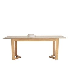 Casablanca 6 Seater Extension Table - Natural, Taupe Grey