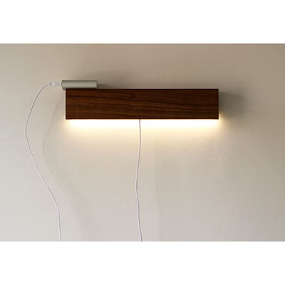 Wooden USB LED Bedside Wall Lamp - Dark Brown - Image 2