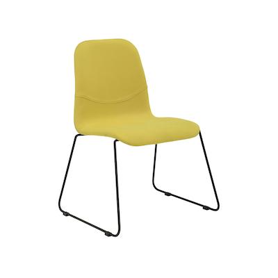 Ava Dining Chair - Matt Black, Pistachio