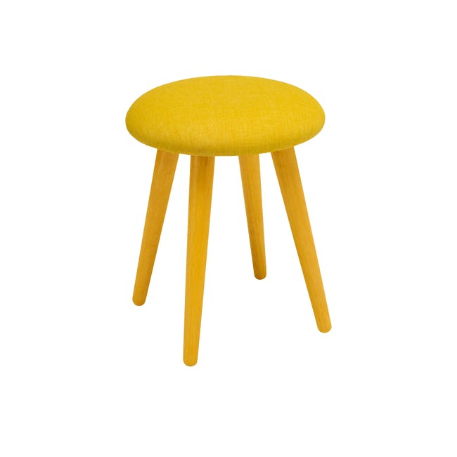 Poppy Stool - Natural, Yellow - 0