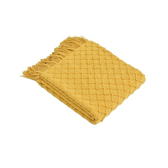 Glenda Throw - Mustard - 0