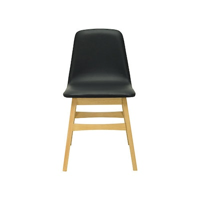 Avice Fabric Seat Dining Chair - Natural, Chestnut - Image 2
