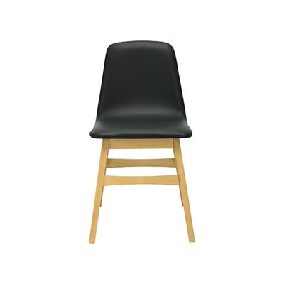 Avice Fabric Seat Dining Chair - Natural, Chestnut