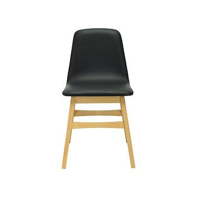 Avice Vinyl Seat  Dining Chair - Cocoa, Cream