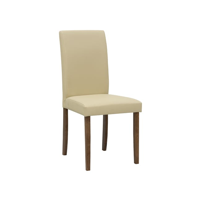 Dahlia Dining Chair - Cocoa, Cream (Faux Leather) - 5