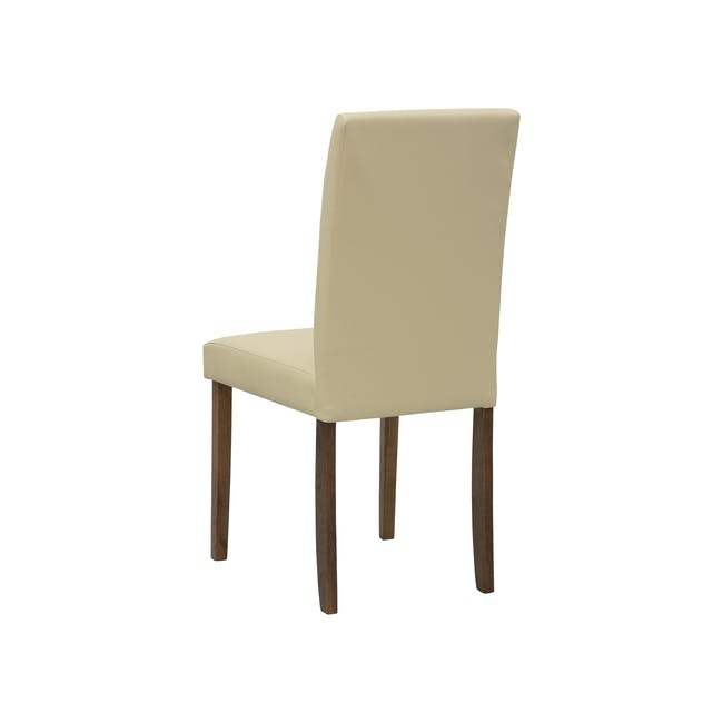 Dahlia Dining Chair - Cocoa, Cream (Faux Leather) - 4